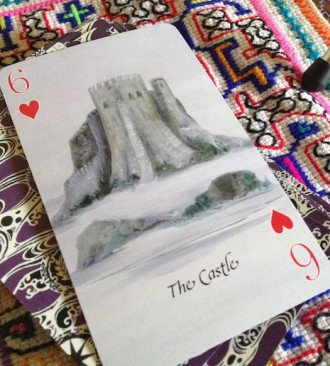 6 of Hearts Playing Card Oracle Alchemy Edition Castle