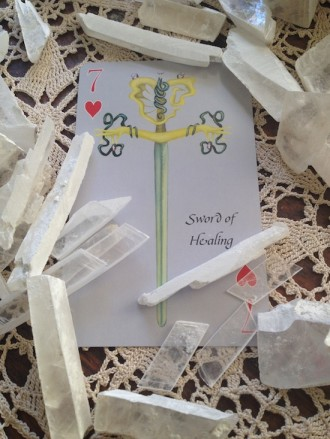 7 of Hearts Sword of Healing Alchemy Edition Playing Card Oracles