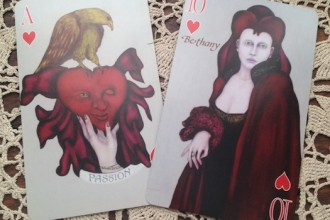 Playing Card Oracle Alchemy Edition Ace of Hearts and 10 of Hearts