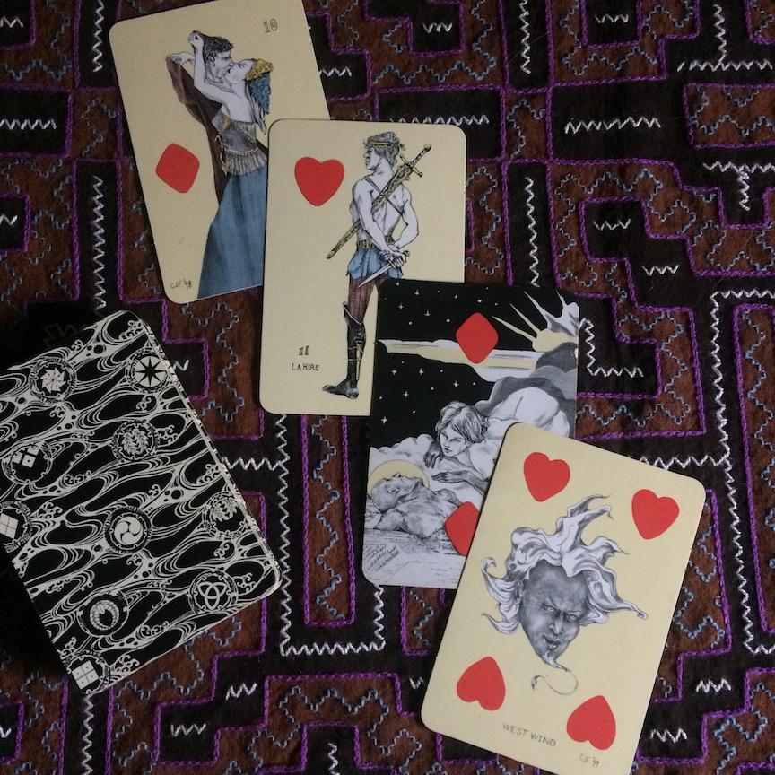 Playing Card Oracles Vintage Edition cards drawn for New Moon Forecast